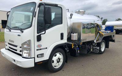 2020 Isuzu NRR 1300 Gallon Aluminum Tank Portable Restroom Service Unit Truck