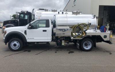 Portable Restroom Truck - 2019 Ford F-550 4x2 Diesel 1300 Gallon Aluminum Tank