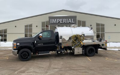 2020 Chevy Diesel Portable Restroom Service Truck with 1700 Gallon Aluminum Tank