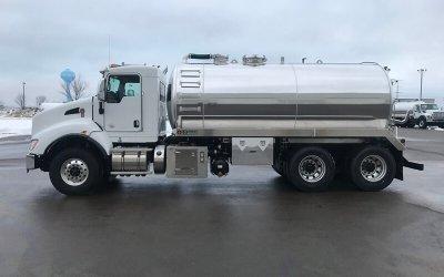 2020 Kenworth T440 4000 Gallon Aluminum Septic or Grease Tank Truck