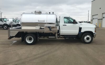 2020 International CV Portable Restroom Service Truck with a 1300 Gallon Aluminum Tank Package